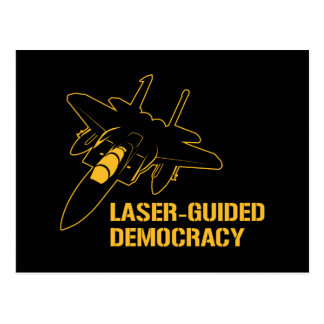Démocratie paix à guidage laser par la puissance d carte postale