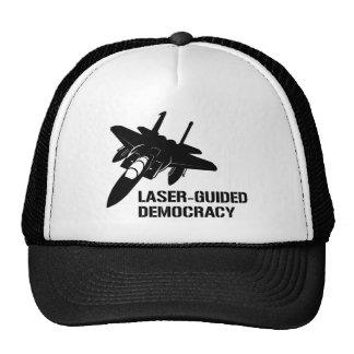 Démocratie/paix à guidage laser par la puissance d casquette trucker