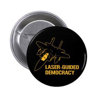 Démocratie/paix à guidage laser par la puissance d macaron rond 5 cm