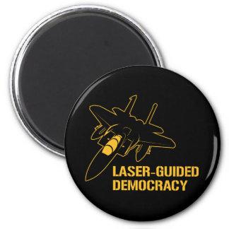 Démocratie/paix à guidage laser par la puissance d magnet rond 8 cm