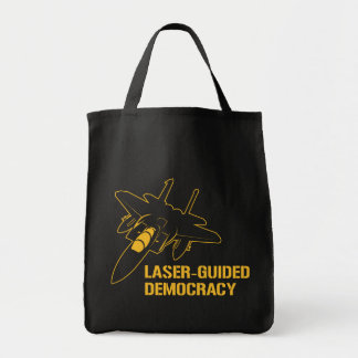 Démocratie/paix à guidage laser par la puissance d sac en toile épicerie