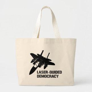 Démocratie/paix à guidage laser par la puissance d sac en toile jumbo