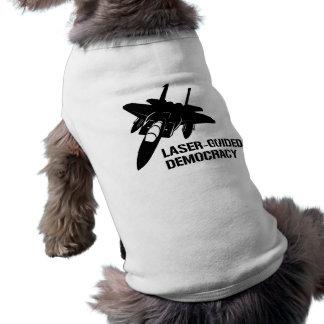 Démocratie/paix à guidage laser par la puissance d t-shirt pour toutou