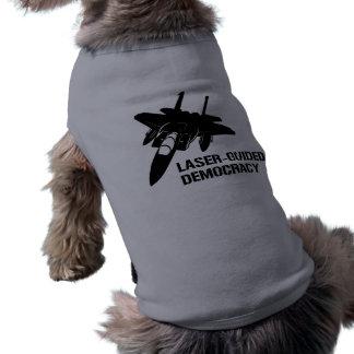 Démocratie/paix à guidage laser par la puissance d tee-shirts pour toutous