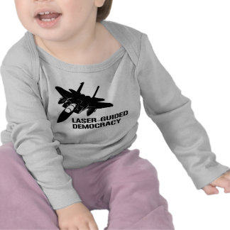 Démocratie paix à guidage laser par la puissance d t-shirt