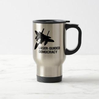 Démocratie/paix à guidage laser par la puissance mug de voyage en acier inoxydable