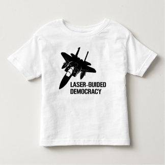 Démocratie/paix à guidage laser par la puissance tee-shirt