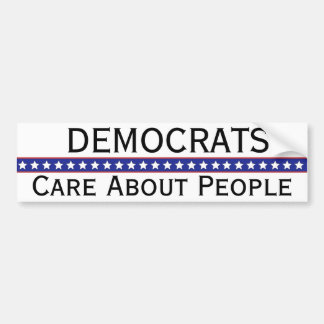 Democrats Care About People Bumper Sticker