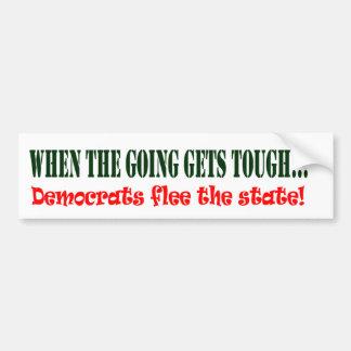 Democrats Flee! Bumper Sticker