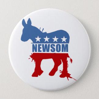 Democrats for Newsom 4 Inch Round Button