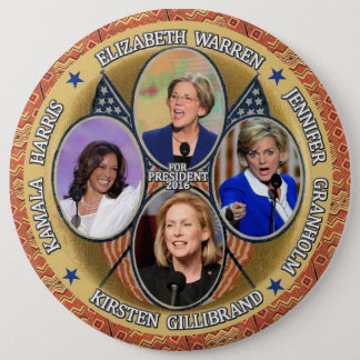 Democrats for President in 2016 6 Inch Round Button