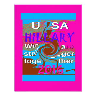 Democrats Hillary For USA President We are Stronge Letterhead