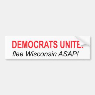 Democrats Unite: Flee! Bumper Sticker