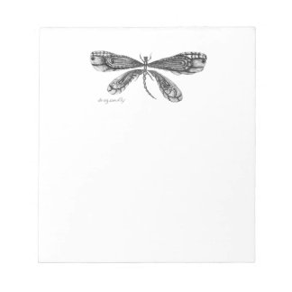 'Demoiselle'  is a dragonfly Notepad