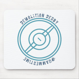 Demolition Derby - Blue Station Mouse Pad