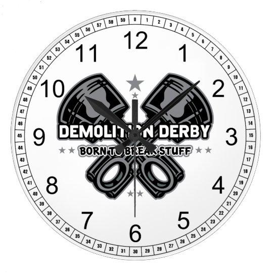 Demolition Derby Born to Break Stuff Wallclocks