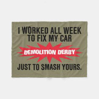 Demolition Derby Smash Your Car Fleece Blanket