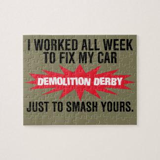 Demolition Derby Smash Your Car Jigsaw Puzzle