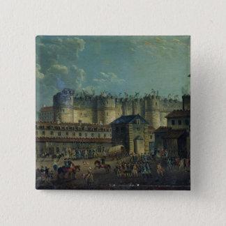 Demolition of the Bastille in 1789 2 Inch Square Button