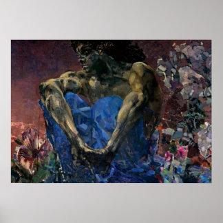 Démon assis par Vrubel- de Mikhail Poster