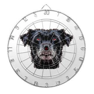 Demon Black Dog Head Dartboard
