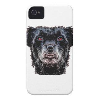 Demon Black Dog Head iPhone 4 Cases