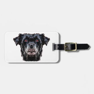 Demon Black Dog Head Luggage Tag