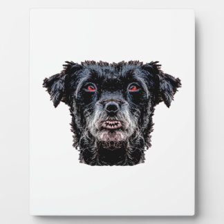 Demon Black Dog Head Plaque