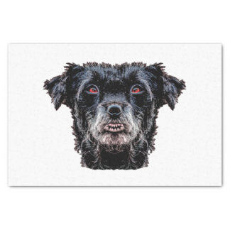 Demon Black Dog Head Tissue Paper