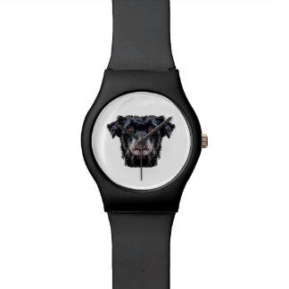 Demon Black Dog Head Watch