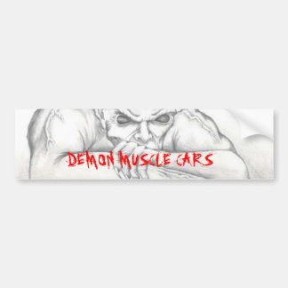 DEMON BUMPER STICKER, DEMON MUSCLE CARS BUMPER STICKER