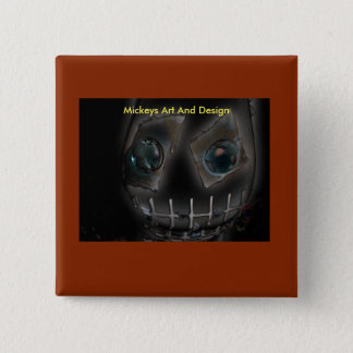 Demon by Mickeys Art And Design. 2 Inch Square Button
