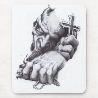 demon cross mouse pad