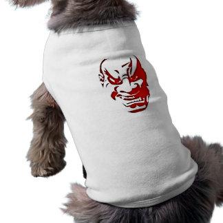 Demon devil head face demon devil head face dog clothes
