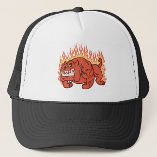 Demon Dog -Flames Trucker Hat