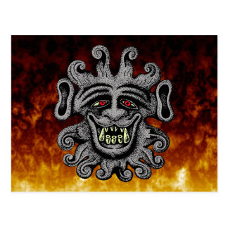 Demon Door Knocker Postcards