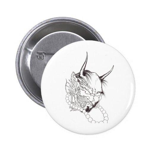 Demon Face 2 Pins