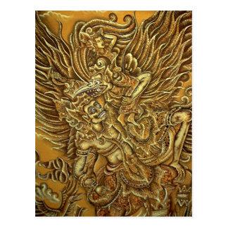 Demon, Garuda Bird and Prince Rama Postcard