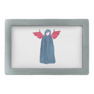 Demon Girl Rectangular Belt Buckles