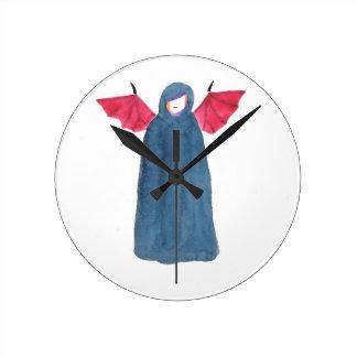 Demon Girl Round Clock