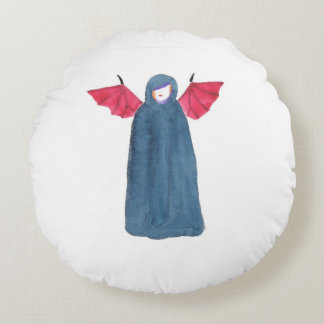 Demon Girl Round Pillow