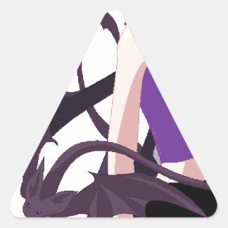 Demon Girl Triangle Sticker