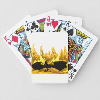 Demon Goat In Hell Poker Deck