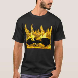 Demon Goat In Hellfire T-shirt