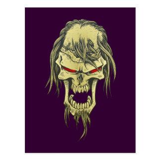 Demon head skull demon skull postcard