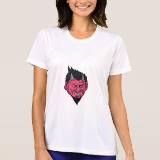Demon Horns Goatee Head Drawing T-Shirt