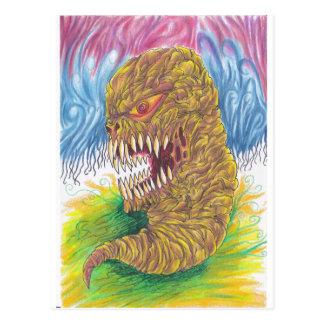 Demon Maggot Art Postcard