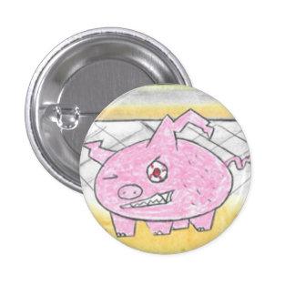 Demon Pig 1 Inch Round Button