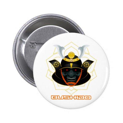 demon samurai button