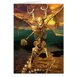 Demon Skeleton Card